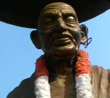 Gandhi statue in Kerala vandalised