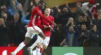 Paul Pogba double lifts Manchester United, Inter Milan joy for Frank de Boer