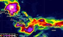IMERG shows Darby's rainfall over the Hawaiian Islands