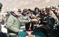PM Modi celebrates Diwali with jawans in Sumdo on the Indo-China border
