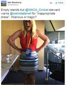 Female journalists questioned for inappropriate clothing at Australian cricket ground