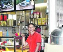 A very Singaporean muah chee