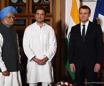 Rahul Gandhi, French President Macron talk fake news, climate change