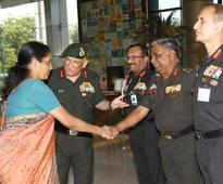 Sitharaman calls visits 'eye-opening', says integration of forces a priority