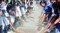 Telangana: Students bear brunt in record bid with broom