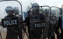 Protest against Ivory Coast's President Alassane Ouattara's new constitution