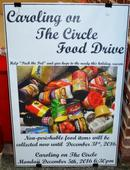 Food drive and singing: Caroling on The Circle Monday evening