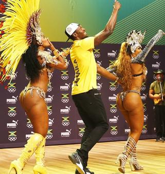 PIX: In search of star power, media lap up Usain Bolt show...