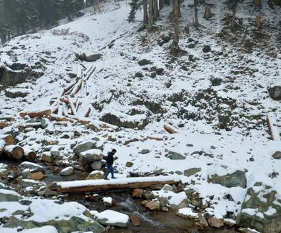 PHOTOS: Jammu and Kashmir receives season's first snowfall