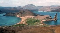 Google maps capture images of Galapagos Islands