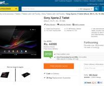 Sony Xperia Tablet Z can now be pre-ordered in India for Rs 44,990