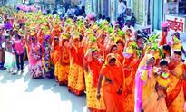 Kalash Yatra, on the occasion of Bhagwat Katha