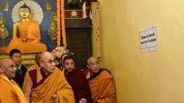 Dalai Lama offers prayer at Maha Bodhi temple in Bihar