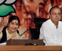 Manmohan is PM but not a leader: Sushma on UPA's fourth anniversary