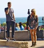 Alex Gerrard puts on VERY leggy display in tiny denim hot pants for LA date night with Steven