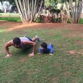 Watch: Shabir Ahluwalia's early morning workout session with son Azai will make you awww!