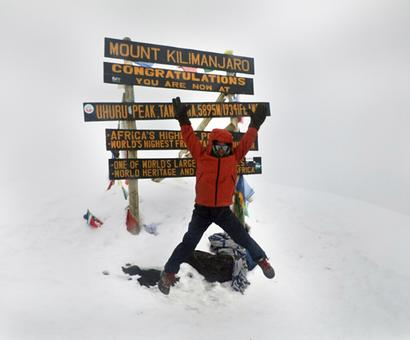 At 7, he's the youngest to scale Kilimanjaro