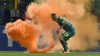 Palermo match versus Lazio halted twice after fans throw fireworks