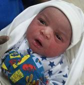 Nollywood star Mr Ibu and his wife welcome a bouncing baby boy