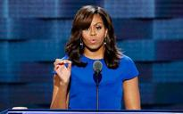 Michelle Obama stands united with Hillary Clinton at Democratic Convention