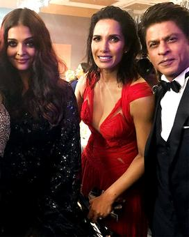 When Shah Rukh Khan partied with Padma Lakshmi and Aishwarya