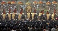 Colourful elephant procession marks temple festival in Kerala
