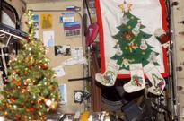 LOOK: Christmas celebration in zero gravity