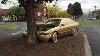 Dumped Toyota Camry painted completely gold in North Fitzroy