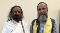 Sri Sri Ravishankar meets Burhan Wani's father, tweets picture