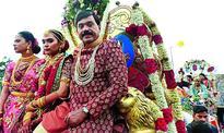 Suicide shadow on wedding cash