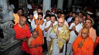 Karnataka: In attempt to woo Vokaligas, Amit Shah visits Adichunchanagiri Mutt