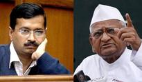 Hazare raps Kejriwal for removing donor list from website