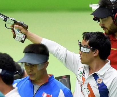 Here's what cost Jitu a medal in 10m air pistol...