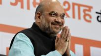 BJP chief Amit Shah meets party leaders, workers in Gujarat