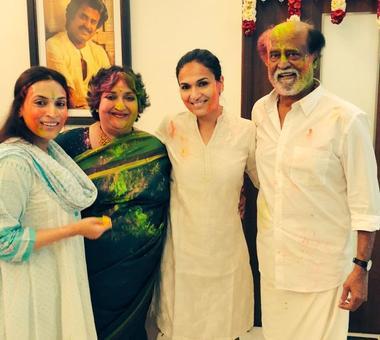 Rajinikanth, Ekta Kapoor celebrate Holi