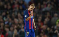 New problems for Barcelona as Jeremy Mathieu joins Gerard Pique on treatment table