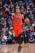 NBA: Oklahoma City Thunder Beats Sacramento Kings; Russell Westbrook Registers 20th Triple-Double of the Season