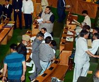J-K Assembly: Abdul Rashid marshalled out, NC stages walkout