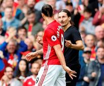 Zlatan Ibrahimovic confronted by lookalike pitch invader at Old Trafford