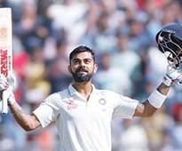 Kohli at double as England wilt in India