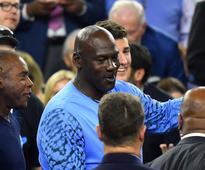Michael Jordan congratulated Allen Iverson