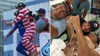 Bryan Fletcher hospitalised after TV stunt goes wrong