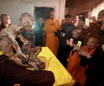 China: Well-preserved mummy of dead Buddhist monk unveiled in Quanzhou