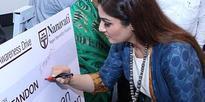 Raveena Tandon during organ donation awareness campaign