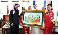 Shaikh Khalid receives 70 athletes with disabilities