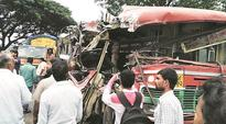 Pune: 4 dead, 33 injured in state bus-truck collision on Talegaon-Chakan road