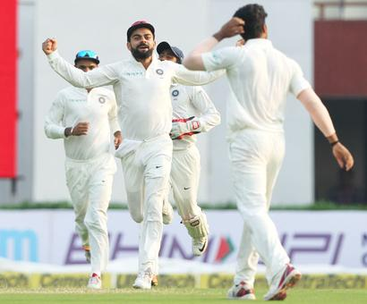 PHOTOS: Match evenly poised as Lanka trail India by 7 runs