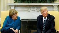 Did not ignore Merkel, I really like her: Trump on 'awkward' photo-op with German Chancellor