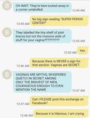 Mom and daughter's text convo about tampons rips into the patriarchy