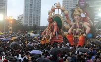 Ganesh immersion ceremony at Girgaum Chowpatty in Mumbai
